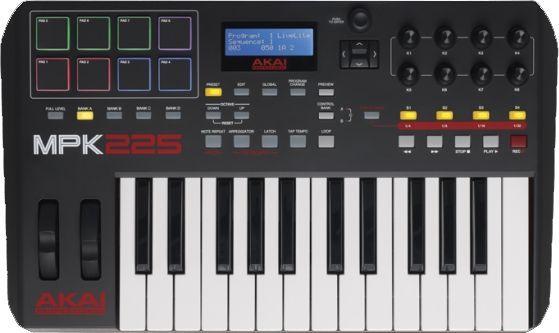 AKAI MPK 225  USB/MIDI Controller Keyboard