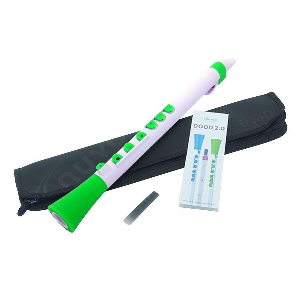 Kinderklarinette NUVO DOOD 2.0 weiß-grün, Klarinette für Kinder ab 4 Jahren
