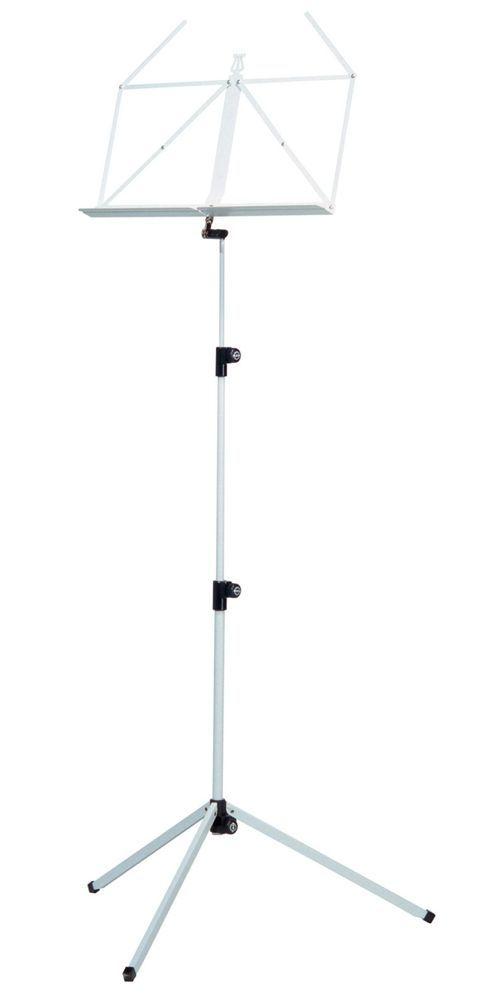 K&M 10010 Notenpult weiß , Höhe 625 - 1240 mm, zusammengelegt 460mm 100/1