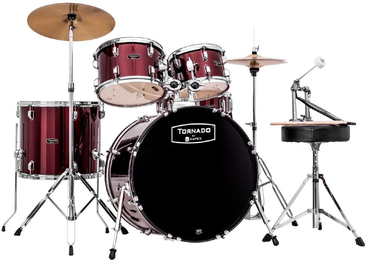 """Mapex Tornado Schlagzeug dark red TND5044TC 20""""/10""""12""""/14"""""""