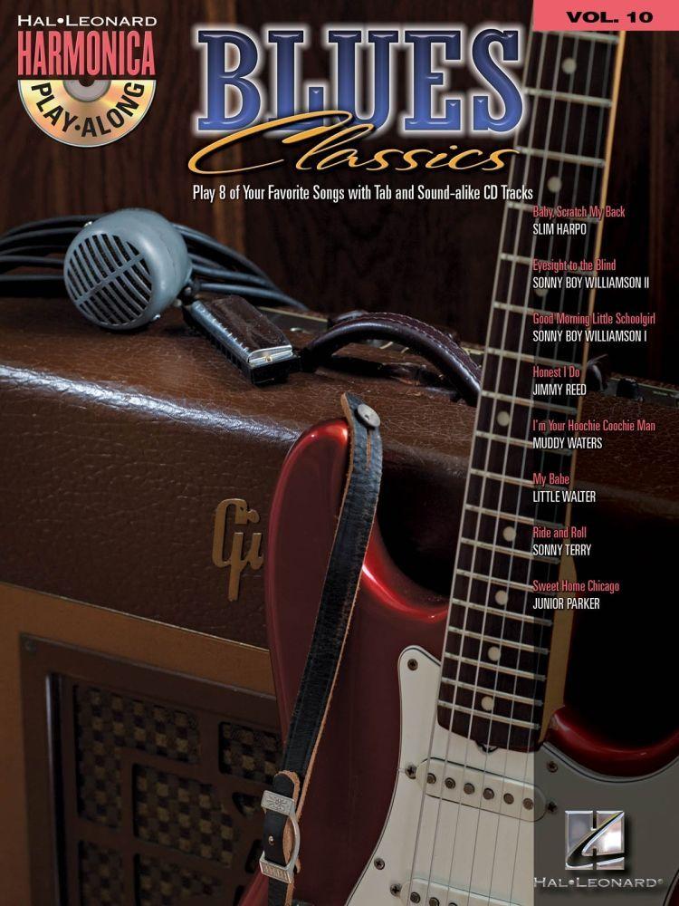 Noten Mundharmonika Blues Classics  Harmonica Play-Along Volume 10 HL 00001093