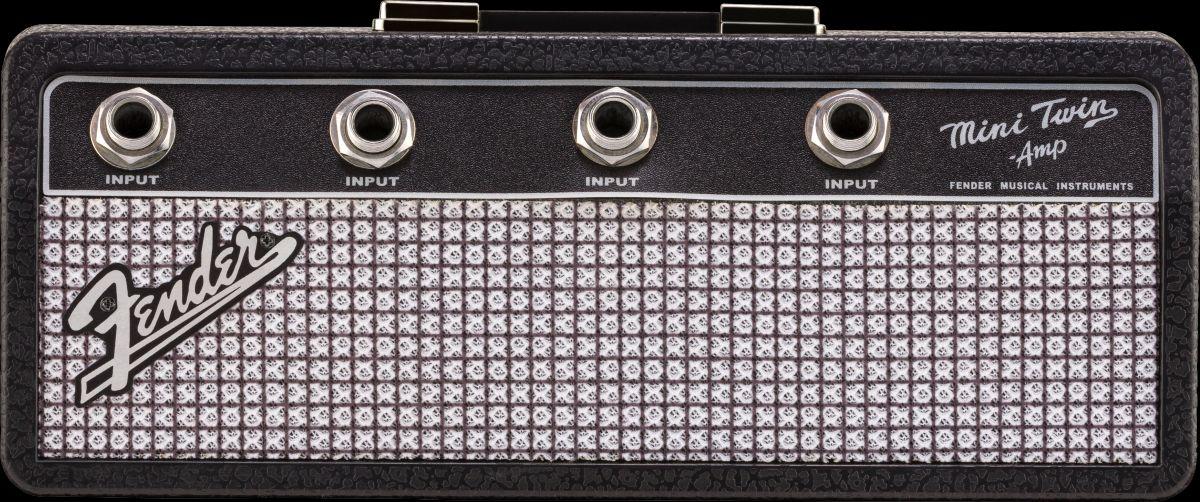 Fender Amp Keychain Holder/ Jack Rack Schlüsselbrett mit 4 Schlüsselanhängern
