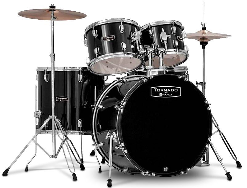 """Mapex Tornado Schlagzeug dark black TND5294FTC 22""""/10""""12""""/14"""""""