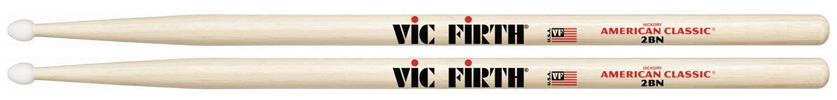 VIC FIRTH 2BN Drumsticks Nylonkopf American Classic Serie Hickory