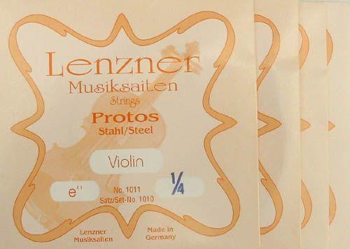 Lenzner Saiten Protos Violine 1/4 Satz  Stahl