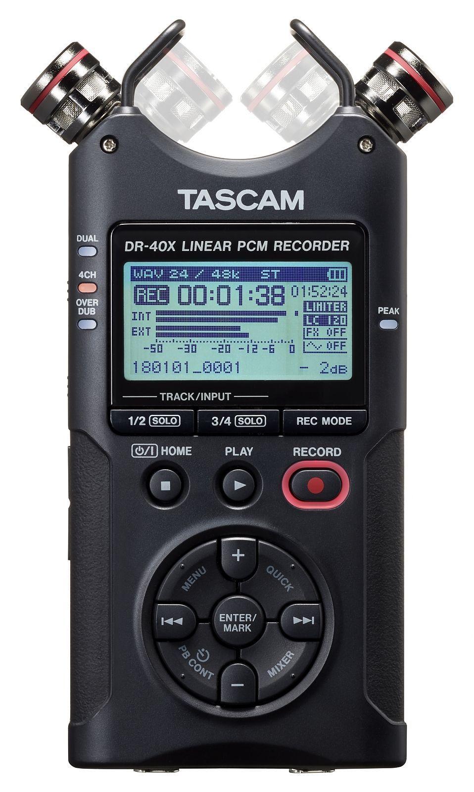 Tascam DR-40X  tragbarer Digitalrecorder und USB-Audiointerface