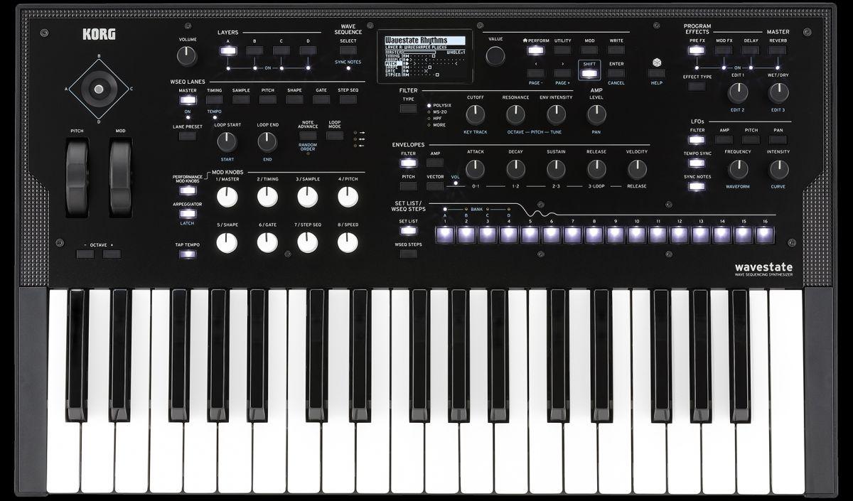 Korg Wavestate Synthesizer, 37 Tasten anschlagdynamisch, 64-stimmig