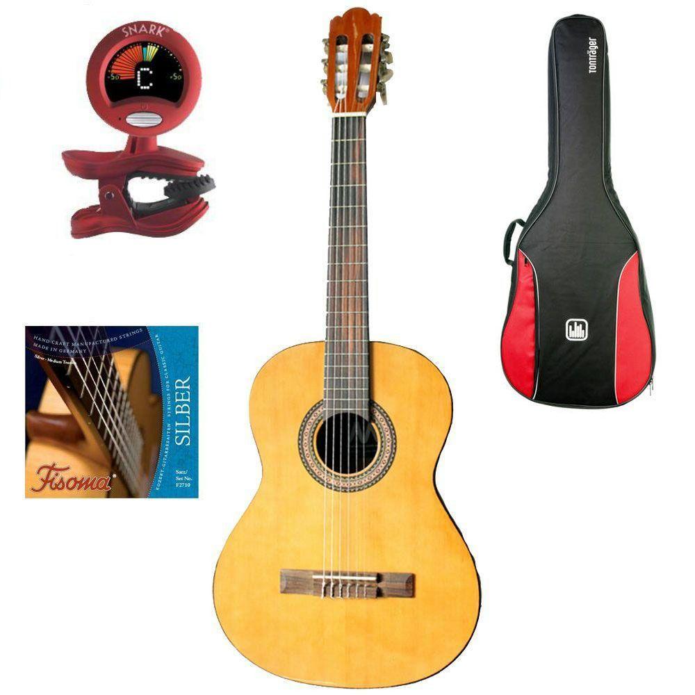 MarkGuitar Junior 3/4 SET Paket: Gitarre, Tasche, Tuner & Saiten