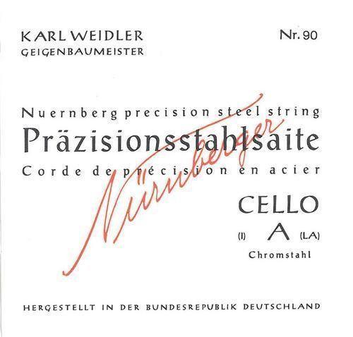 Karl Weidler Saiten Cello 4/4  Stahl Satz Nr. 93 mittel
