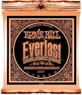 Ernie Ball EB2548 Everlast Coated Akustik Saiten, 6 Strings .011-.052