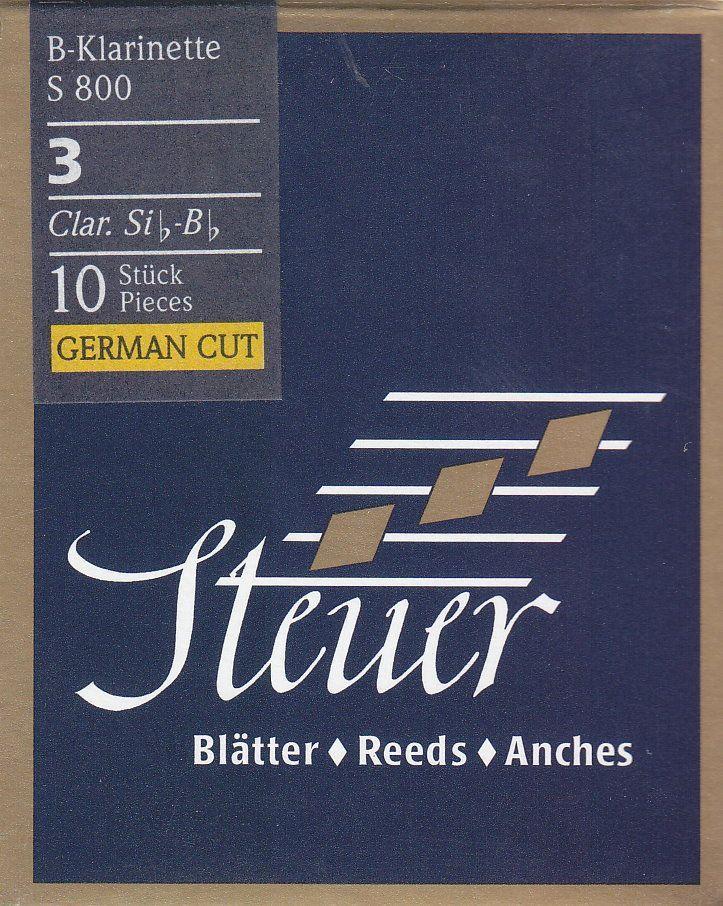 Steuer Blatt S-800 B-Klarinette deutsch 3,0 Blue Line