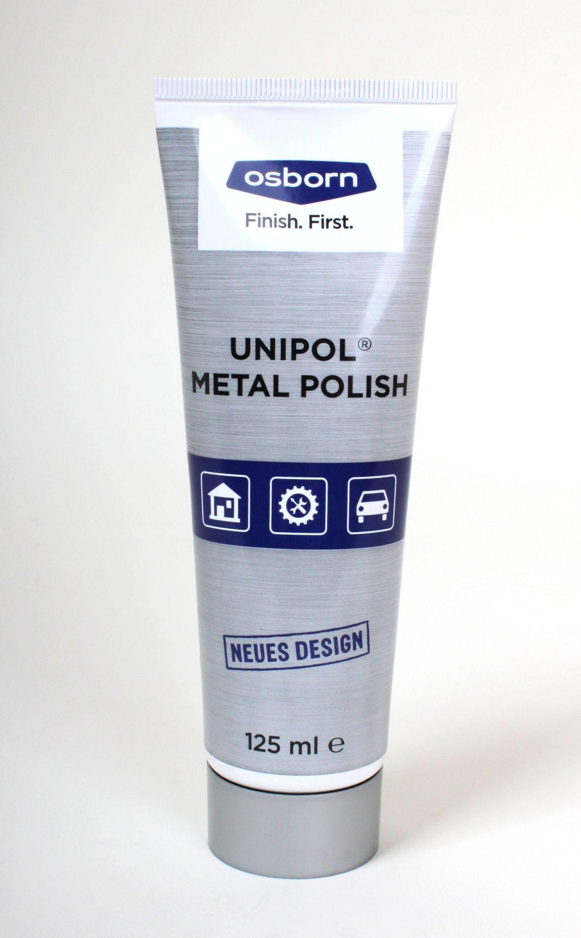 Unipol Metallpolitur für Messing, Kupfer, Silber, Bronze u.a. , 125ml Tube