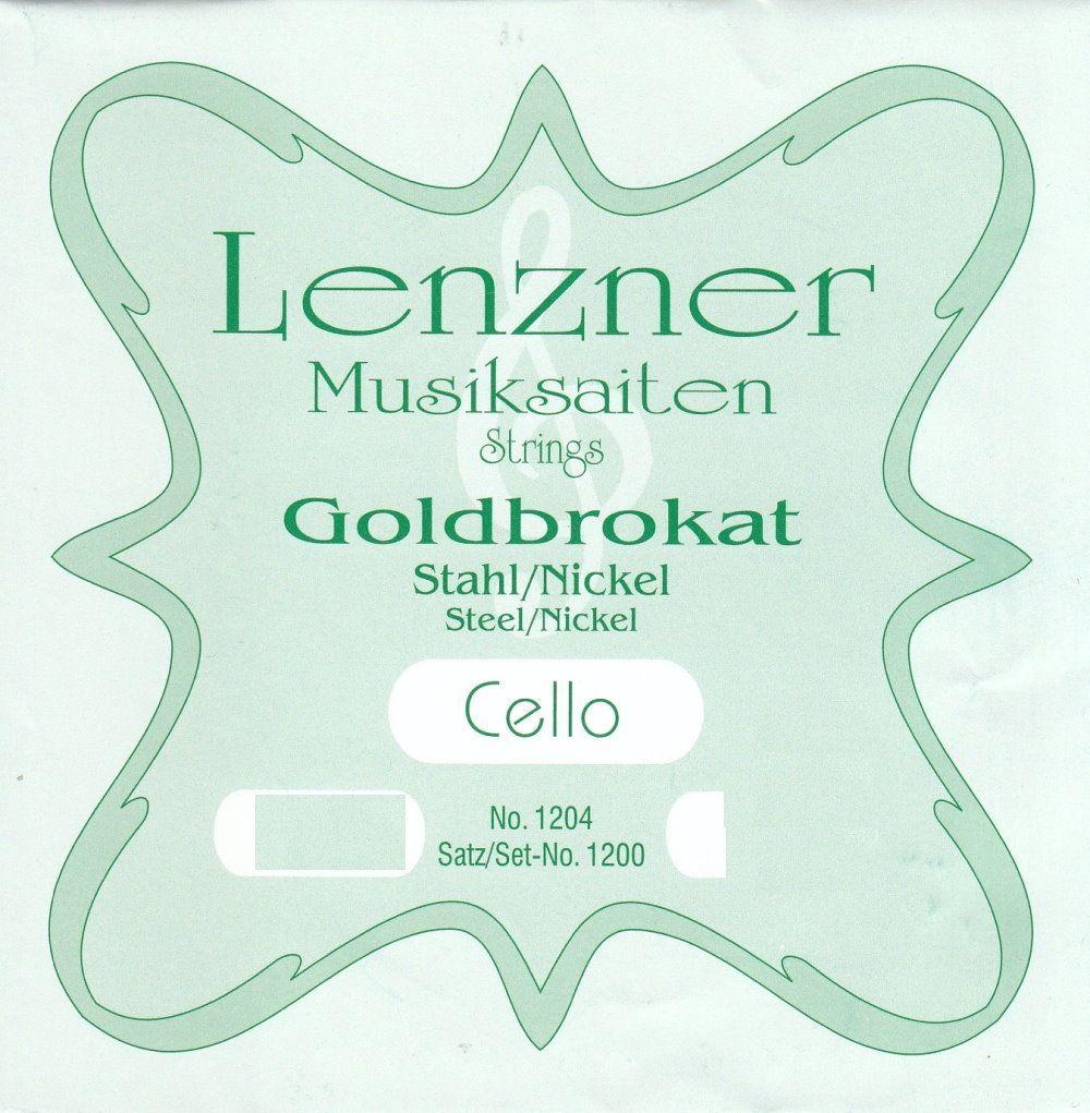 Cello Saiten Goldbrokat 1/4  Stahl Satz  862/1200D