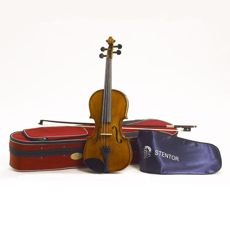 Stentor Violine Student II  4/4 SR-1500A2  4/4 Garnitur mit Koffer u. Bogen