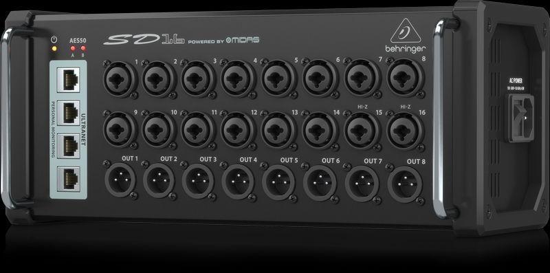 Behringer SD16 Digitale Stagebox  mit 16 Ein- und 8 Ausgängen