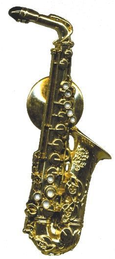 Anstecker Alt-Saxophon Selmer FP-Schmuck #566 Musikergeschenke Musikerschmuck