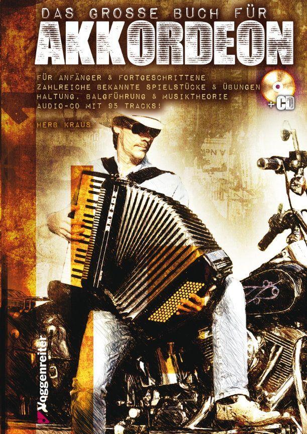 Noten Das grosse Buch für Akkordeon Herb Kraus Voggenreiter incl. CD 990