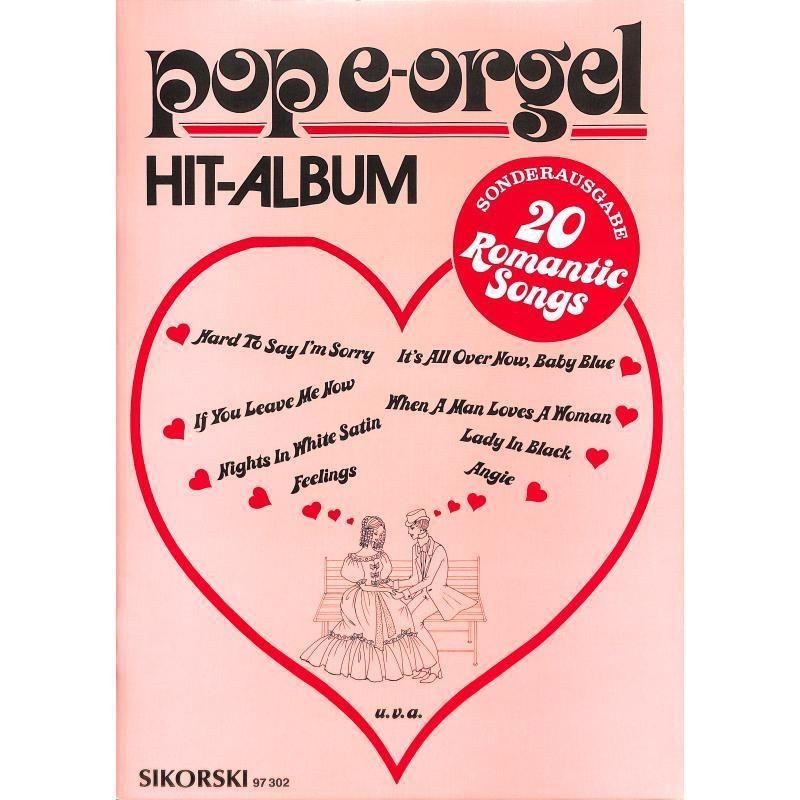 Noten Romantic songs für Keyboard Rock ballads POP e- orgel Album Sikorsk 97302
