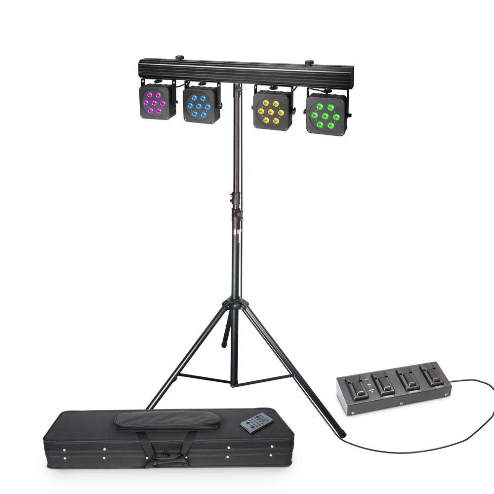Cameo Multi Par 3 CLMPAR3 SET, Lichtanlage  inkl. Stativ und 4 fach Fußpedal