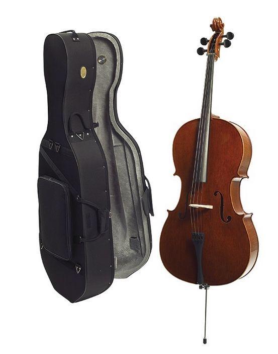 Stentor Cello 4/4 1586A Conservatoire Ebenholzgriffbrett, Ebenholzwirbel