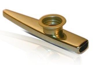 "Sub-Kazoo Metall - ""Tröte"", Messing lackiert, Membrane austauschbar"