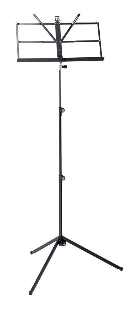 K&M 10040 Notenpult schwarz , Höhe 650-1240 mm, 100/4, Einhand-Notenpultkopf !