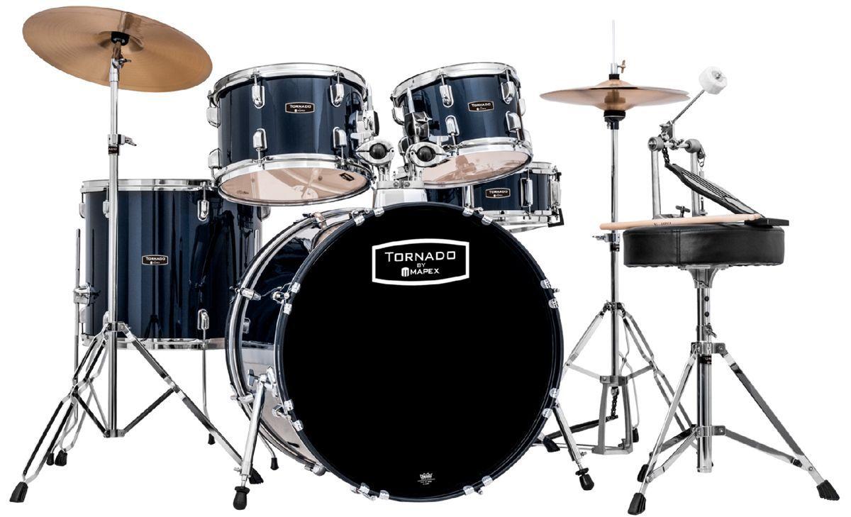"Mapex Tornado Schlagzeug TND5044TC royal blue 20""/10""12""/14"""