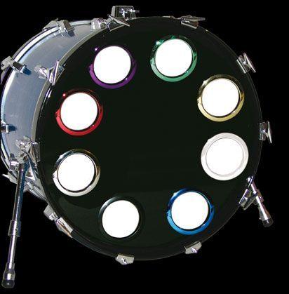 """Bass Drum O`s   5"""" / White Ring für Resonanzloch Verstärkungsring"""