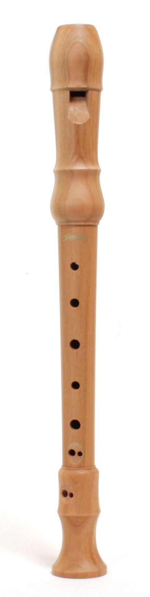 Schneider Blockflöte 40804-sek Sopran Kirschbaum natur barock 3-teilig