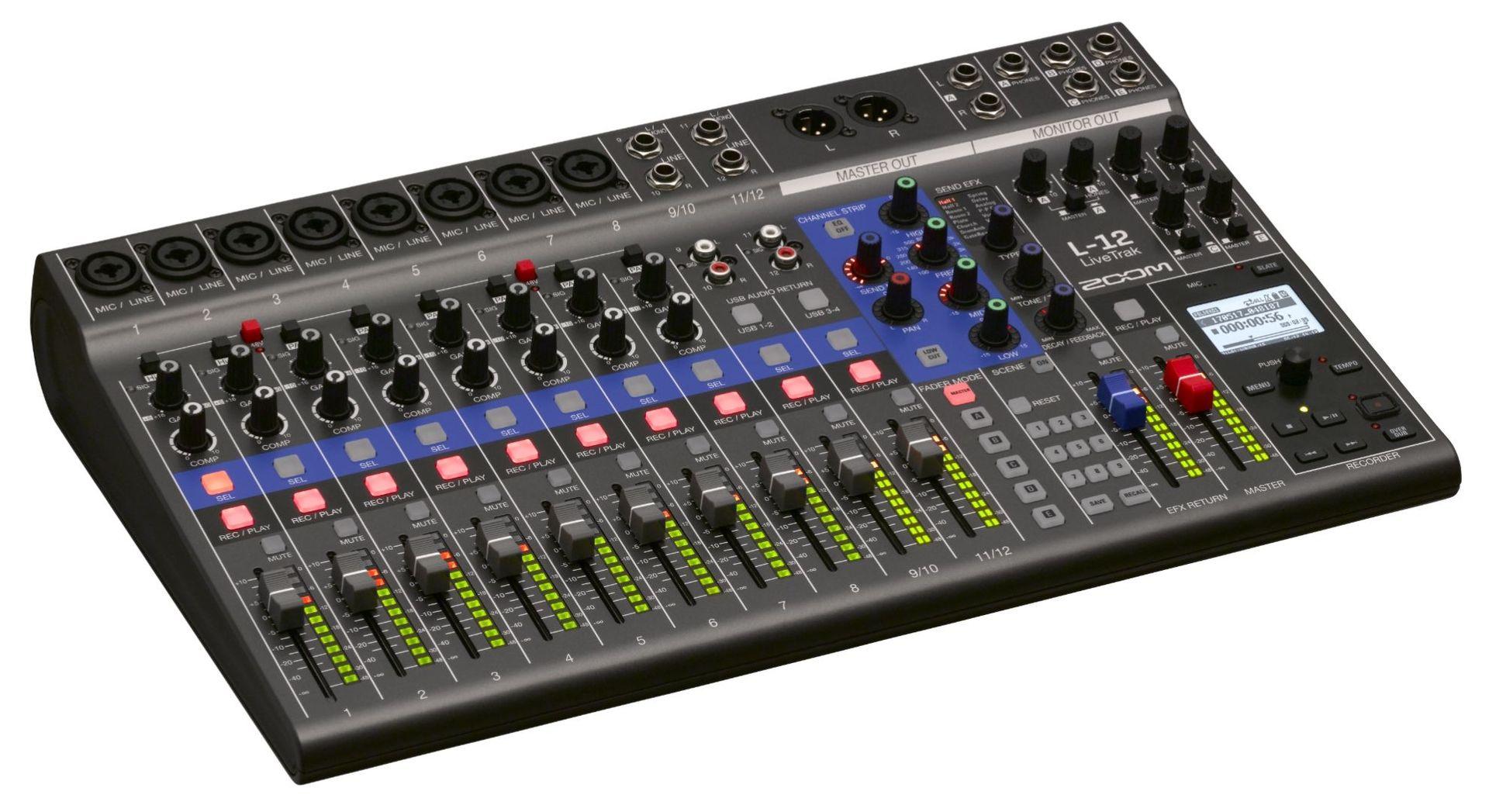 Zoom Livetrak L-12 Digitalmixer, Mehrspur-Recorder und Audiointerface