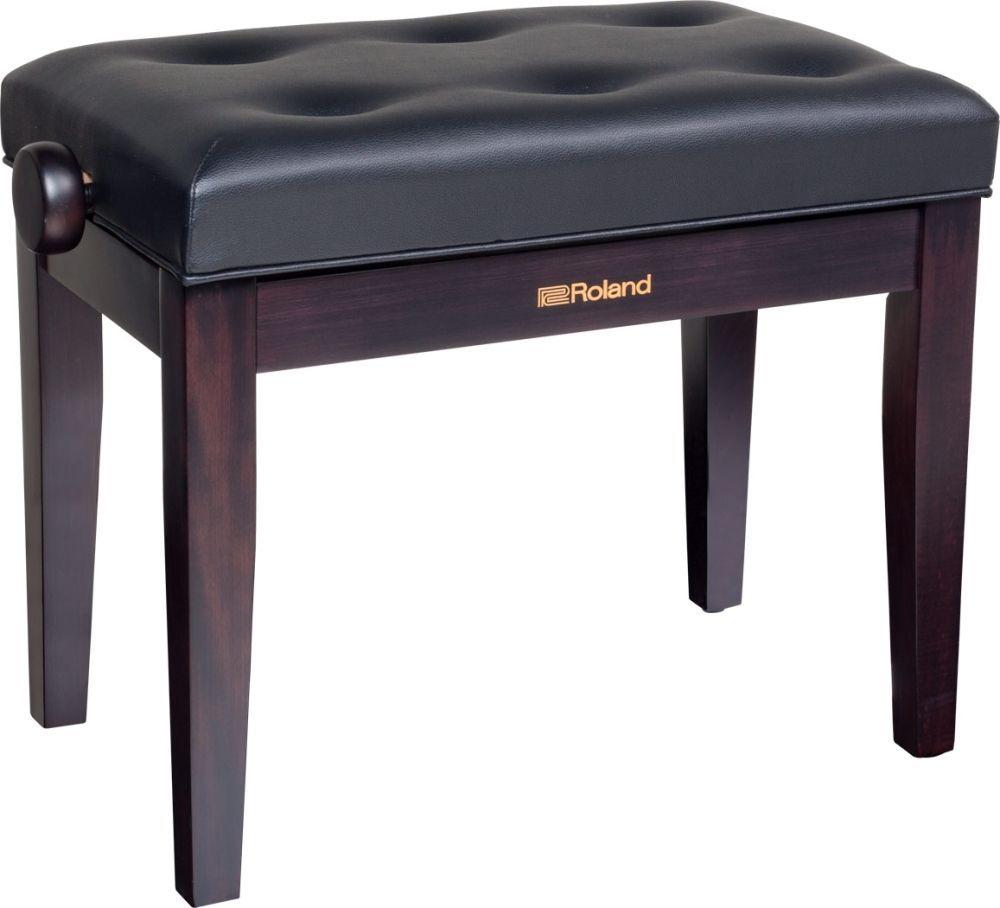 Klavierbank Rosenholz, höhenverstellbar, Sitz Vinyl schwarz, Pianobank