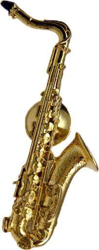 Anstecker Tenor-Saxophon FP-Schmuck  #542 Musikergeschenke Musikerschmuck