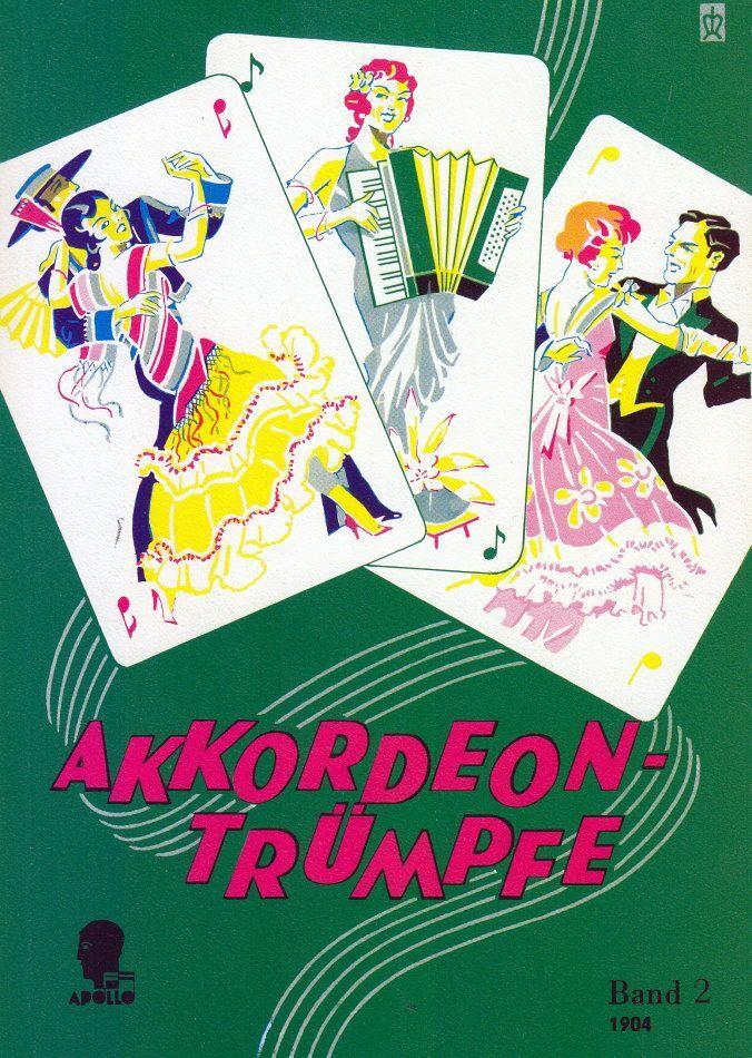 Noten Akkordeon Trümpfe 59 der Bekanntesten Schlager  Apollo Verlag 1904