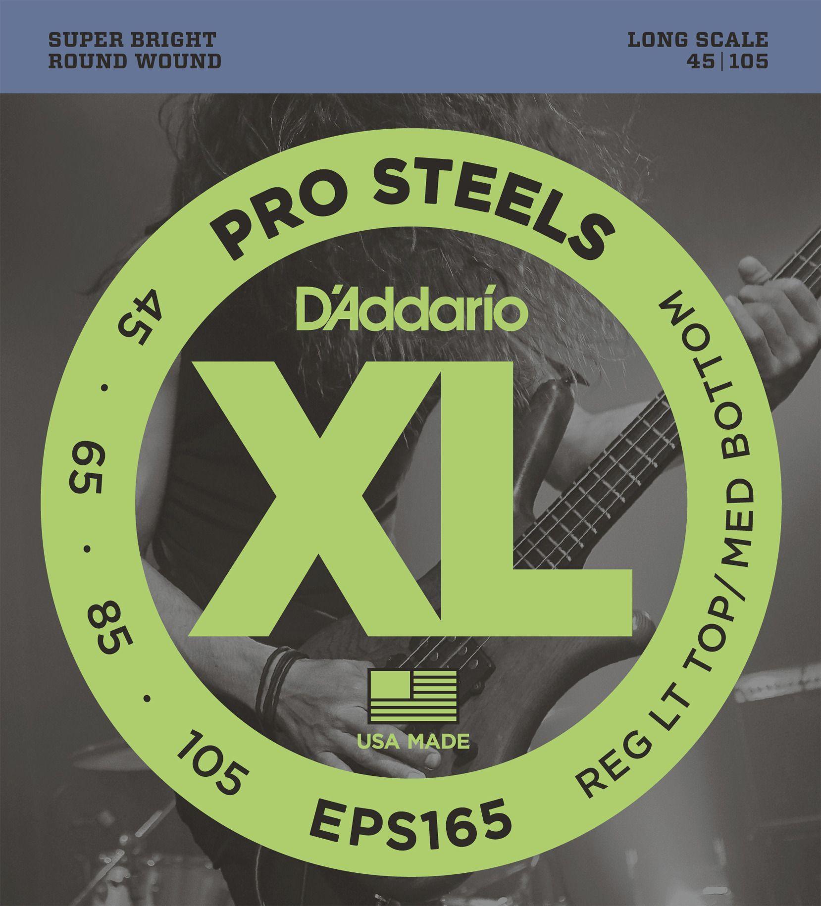 D'Addario E-Bass Saiten EPS165, Prosteels 4 String Bass 045-105