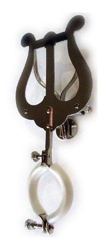 Marschgabel Riedl 130 B-Klarinette große Lyra, Notenhalter vernickelt