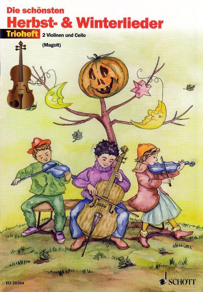 Noten Die schönsten Herbst- & Winterlieder 2 Violinen 1 Cello ED 20204 Trioheft