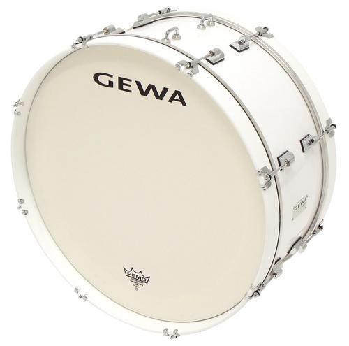 Gewa Marching Bass Drum 26 x 12 white Marschpauke Pappelholz Folie Remo Felle