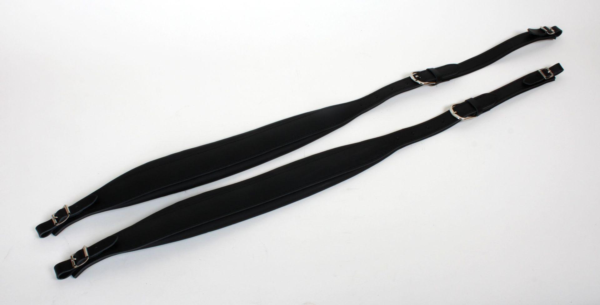 Weltmeister Trageriemen 37/41er Akkordeon 96/120 Bass, Leder schwarz, 61mm breit