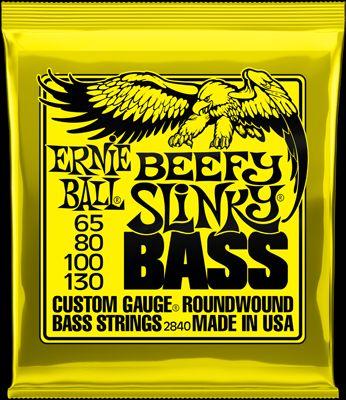Ernie Ball EB2840 Beefy Slinky E-Bass Saiten Slinky 065-130