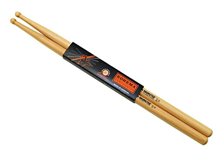 Rohema 5B Rounded Tip Hickory Drumsticks 61306