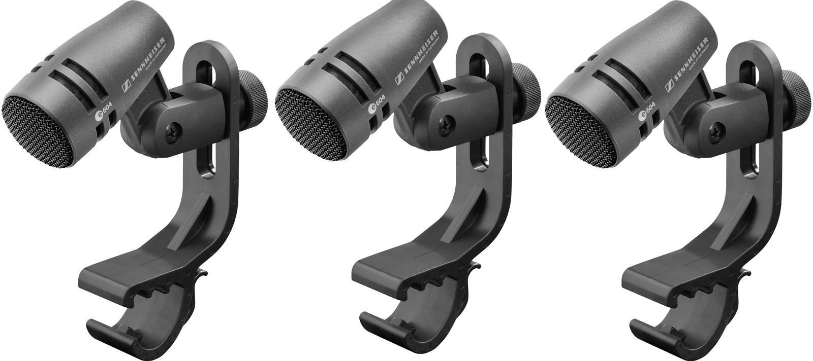 Sennheiser e 604 3 Pack 3 Instrumenten-Mikrofone für Drum, dynamisch !!3er SET!!
