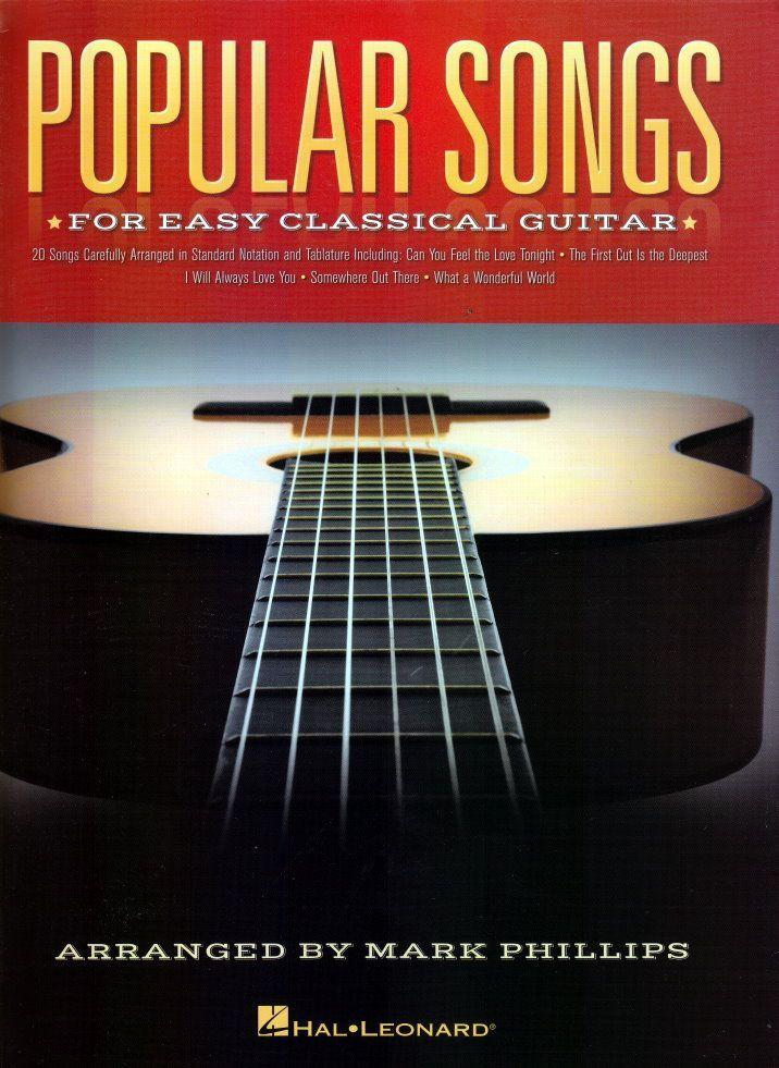 Noten Popular songs for easy classical guitar HL 130239 Arranger: Mark Phillips