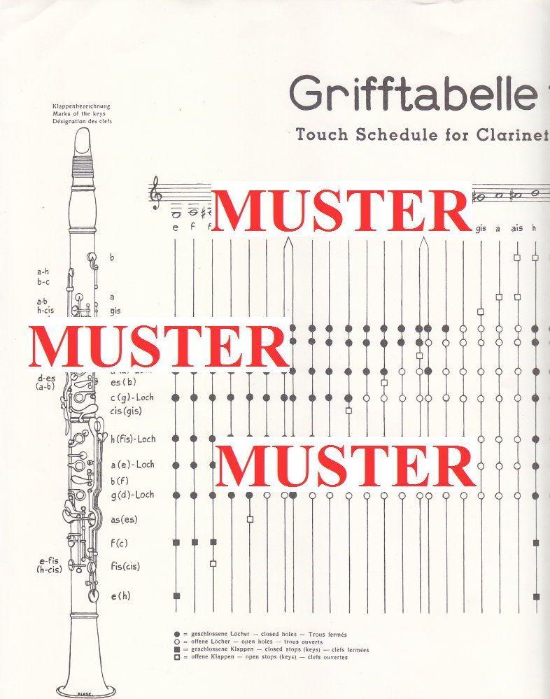 Noten Grifftabelle DIE Grifftabelle für das deutschem System Verlag Doblinger