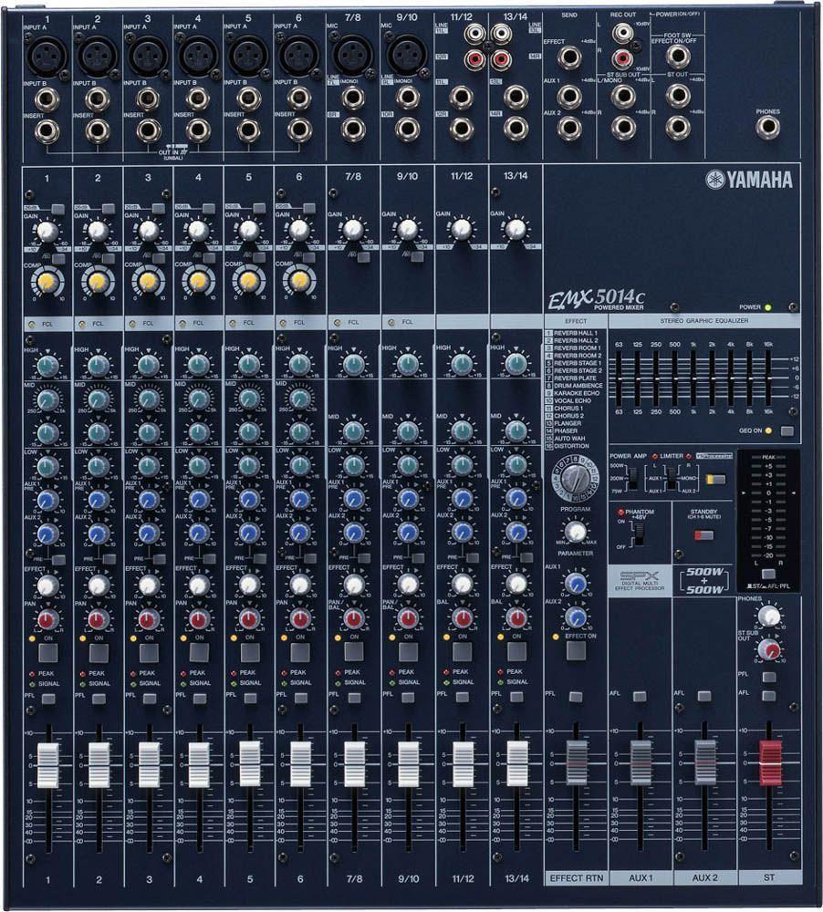 Yamaha EMX-5014C Powermixer, 2x 500W/4, 12 Kanäle, Effekte, EQ, 48V-Phantom