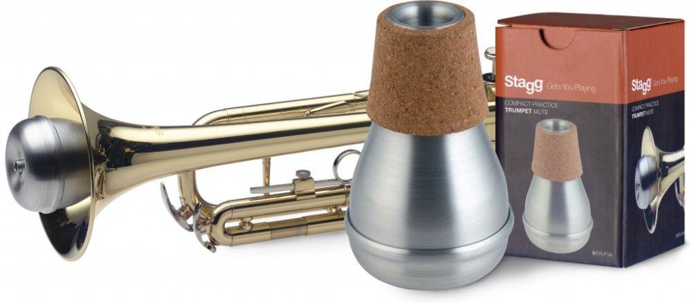 Übungsdämpfer Trompete Aluminium, Practice Mute, Kompaktmodell MTRP3A