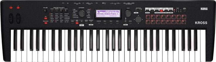 Korg KROSS 2-61 bk Music Workstation mit 61 Tasten, Sequenzer, Vocoder,