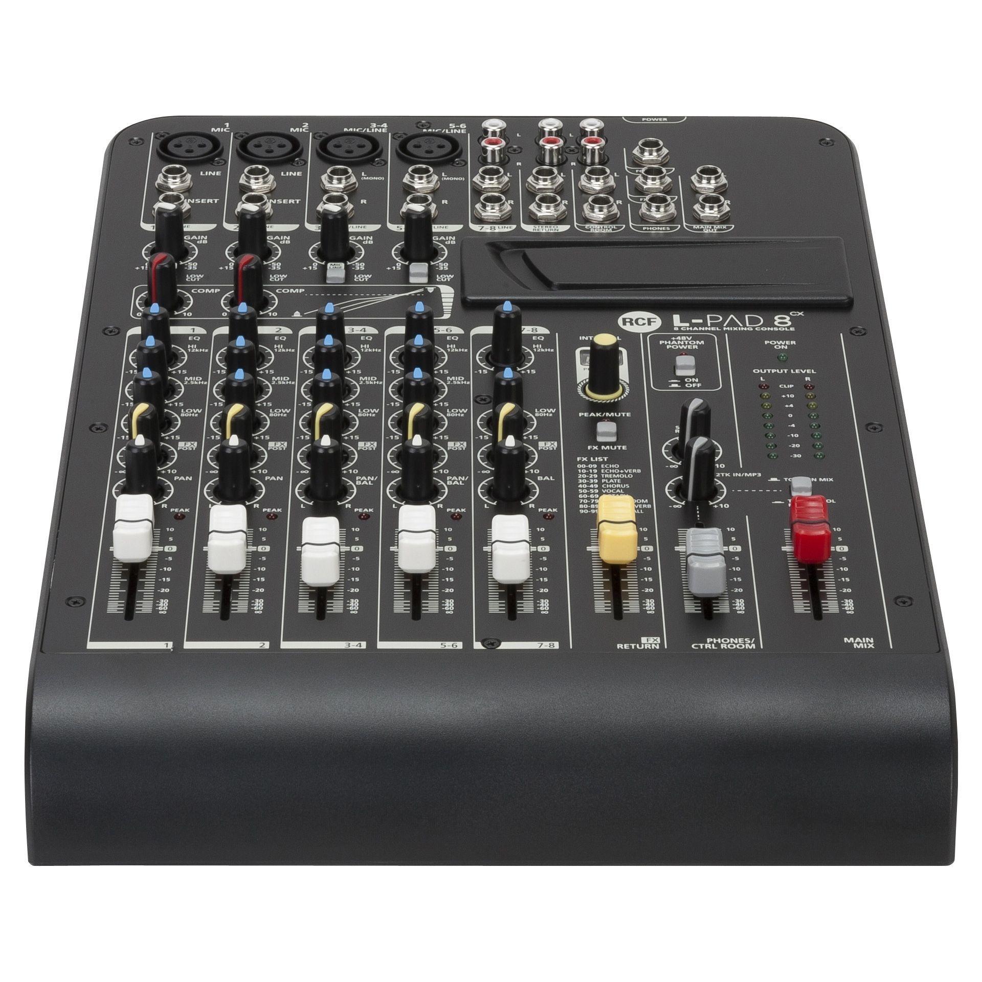 RCF L-PAD 8cx 8- Kanal Mixer mit internem Effektgerät  Restbestand