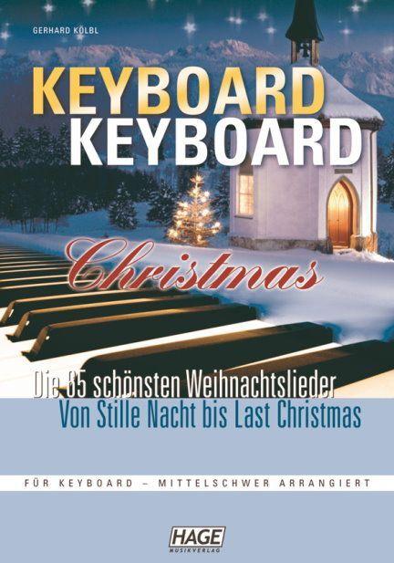Noten Keyboard Keyboard Christmas bekannte Titel Hage EH 3729