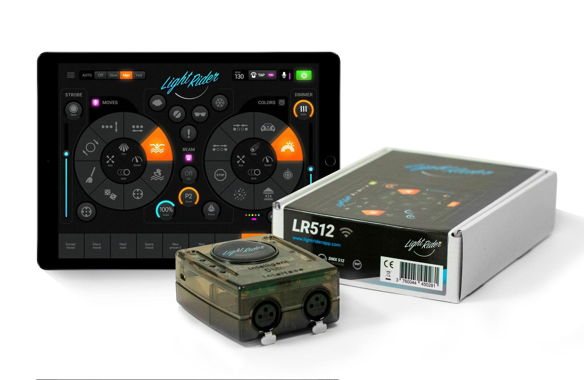 Daslight Light Rider Wifi DMX Interface,  Lichtsteuerung per Tablet oder Handy