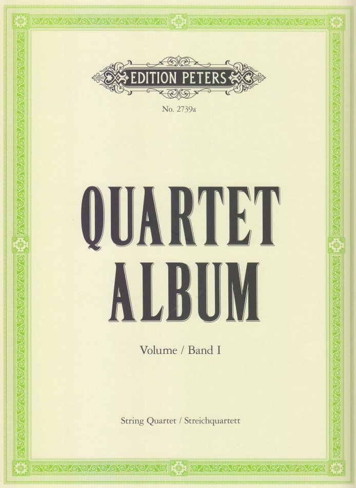 Noten Quartett Album Band 1 für 2 Violinen Viola Cello Peters EP 2739a